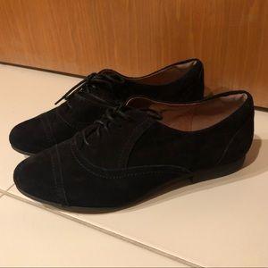 Clark's Black Suede Flat Shoes